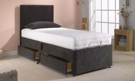 💗🔥💗BEST SELLING BRAND💗BRAND New Single Divan Bed base £29 ONLY, w 9 Inch Deep Quilt Mattress £69