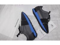 Balenciaga runners grey with blue sole with receipt & box