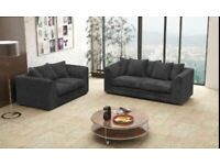 Black jumbo cord sofa left or right 32 always in stock