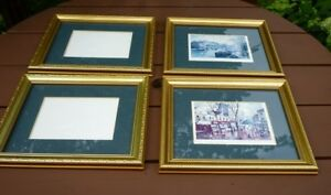 """4 Gold Picture Frames 9 1/2"""" x11 1/2"""""""