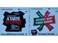 Saturday Night Sunday Morning & Taste Of Honey 2 Disc Set DVD Promo Telegraph
