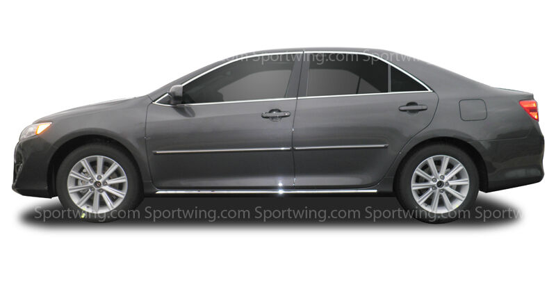 for toyota camry painted body side moldings trim with chrome insert 2012 2017 ebay. Black Bedroom Furniture Sets. Home Design Ideas