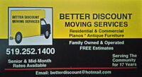 BETTER DISCOUNT MOVING SERVICES *519-252-1400*