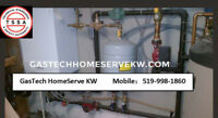 dish washer, water softener, range hood installation