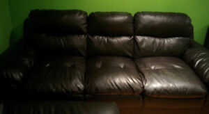 Bonded leather living room set (sofa, loveseat, chair)