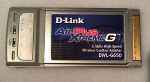 Carte réseau Wi-Fi PCMCIA D-LINK AirPlus XtremeG DWL-G650