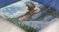 Queen Mink Eagle in Flight Blanket