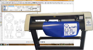 Vinyl Cutter plotter SM 24 with the most easy software