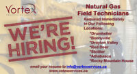 Natural Gas Field Technicians Required