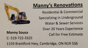 MANNY'S RENOVATIONS Cambridge Kitchener Area image 1