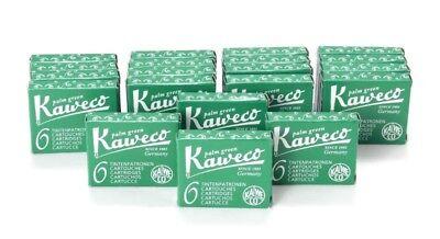Kaweco Fountain Pen Ink Cartridges short, Palm Green (Green), 120 pc.
