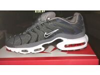 Nike air tns last pair size 8 new in boxgrey black