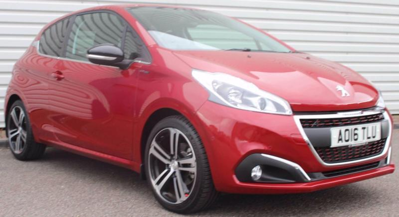 peugeot 208 gt line 1 2 petrol manual 3 door red 2016 in. Black Bedroom Furniture Sets. Home Design Ideas