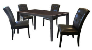 DURAWOOD 35.5-inch x 59-inch Solid Wood Dining Table in Black