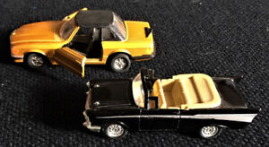 Vintage Mercedes and Chevy Diecast models