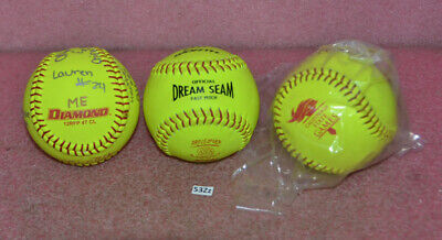 Lot of 3 Official Dream Seam Fast Pitch Softballs__California State Games.