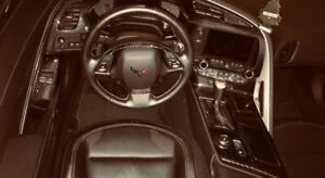 2014+ corvette full carbon fiber interior(dry carbon)(stick on)