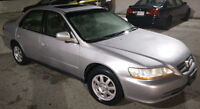 2002 HONDA ACCORD SEDAN (4 CYLINDER) 158,479 KMS (ONE OWNER)