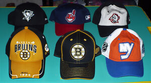 Hats Bruins, Penguins, Sabres, Indians $10 each or 5 for $40