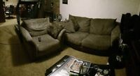 Microfiber couch & chair