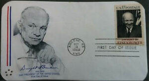 First Day of Issue Cover Envelope Stamp - Eisenhower