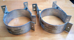 Pellet stove chimney brackets