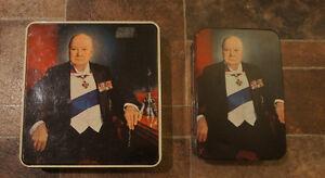 Antique Winston Churchill Cookie Tins