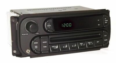 2006 Jeep Wrangler Radio AMFM CD Player Digital EQ Controls w Aux iPod Input RBK