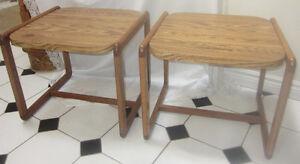 Mid Century Modern Danish Salin Nyborg Style Coffee / End Tables