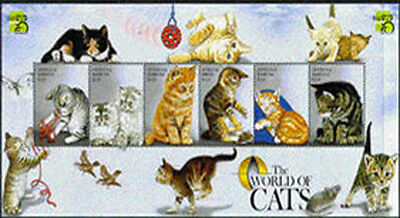 Antigua, Sc. 2277, MNH, 1999, Topical, S/S, Cats, Butterflies, HID-I