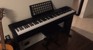 Casio CDP-130 digital piano in like new condition