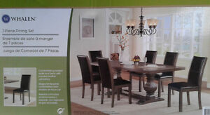 Dining room table and chairs - NEW