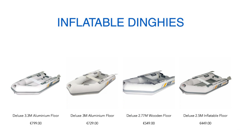 BRAND NEW INFLATABLE DINGHIES