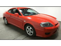 2005(05)HYUNDAI COUPE 1.6 S BRIGHT RED,LONG MOT,HALF LEATHER,CLEAN CAR