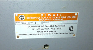 Radial Arm Saw DEWALT/B&D Industrial commercial model