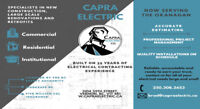 Electrician for Hire - Capra Electric