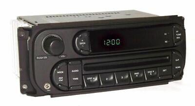 2004 Dodge Ram 1500 Pickup Radio AM FM CD Player Digital w Auxiliary Input RBK
