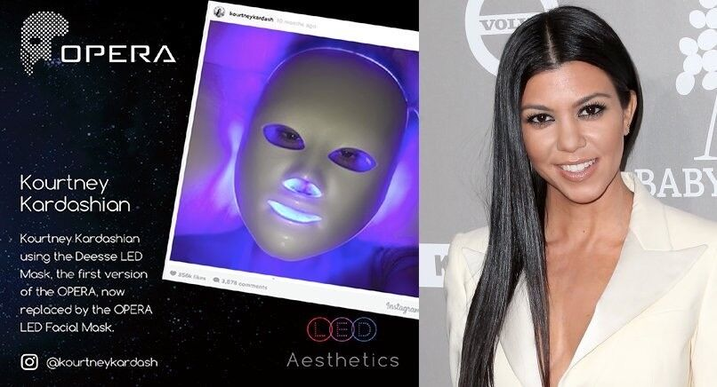 OPERA LED FACIAL MASK - CELEBRITY FAVOURITE Wrinkle reduction, Skin toning, tightening, dark spots