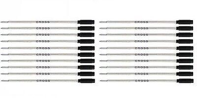 20 CROSS Authentic Ballpoint Pen Refills - BLACK MEDIUM POINT -  #8513