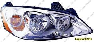Head Lamp Passenger Side With Clear Round Lens For Ctf Package Base/Gt Mdl 09-10/Gxp Mdl 08-09 High Quality PONTIAC G6 2