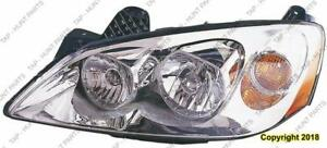 Head Lamp Driver Side With Clear Round Lens For Ctf Package Base/Gt Mdl 09-10/Gxp Mdl 08-09 High Quality PONTIAC G6 2008