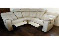 Cameron Leather Dual Facing Recliner Corner Sofa -Grey. Can deliver