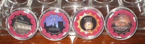 Horseshoe $5. Casino Chip Limited Edition Set-Cleveland, Ohio- 4 Chip Sample Set