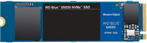 500GB WD Blue SN550 NVMe Internal SSD - Gen3 x4 PCIe 8Gb/s, M.2 2280