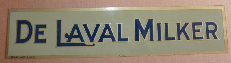 Vintage Original Metal Sign Hand Painted De Laval Milker Sign