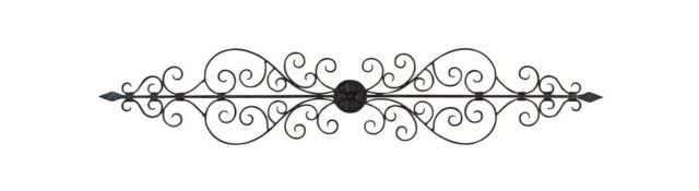 Metal Scroll Wall Decor benzara 26545 44in elegant metal scroll wall decor sculpture