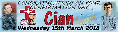 Confirmation Day Banner Personalised with photos Poster 4 Foot Long