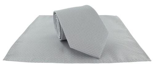 Michelsons of London Semi Plain Tie & Pocket Square Set