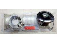 """Manrose - Bathroom Extractor Fan Showerlight Kit 4""""Chrome/white +Timer NEW"""