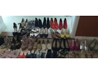 Ladies new never used shoes sizes 6/ 6.5 mostly flat , others have tiny heel